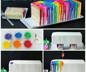 cake, rainbow, and diy image