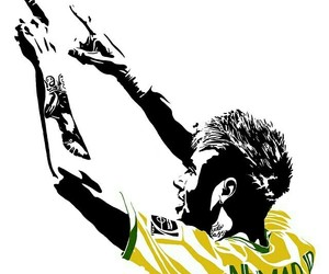 brazil, neymar, and neymar jr image
