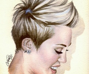 beautiful, drawing, and miley cyrus image