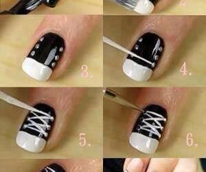 nails, diy, and converse image