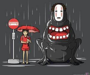 anime, red, and spirited away image