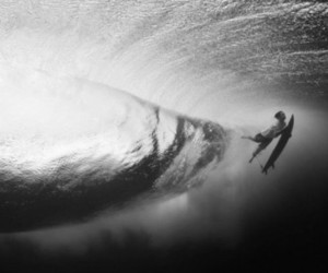 surf, waves, and black and white image