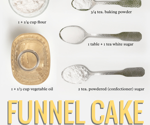 cooking, funnel cake, and how to image