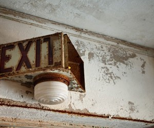abandoned, exit, and house image