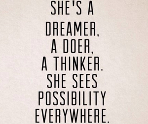 dreamer, quote, and doer image