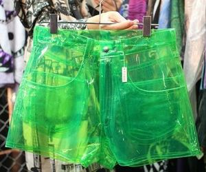 fashion, shorts, and green image