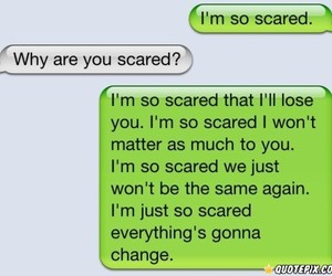 love, scared, and quote image
