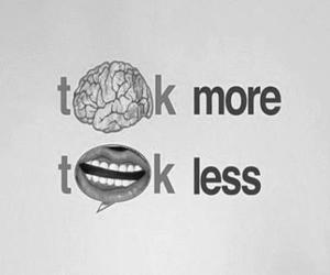 talk, think, and less image