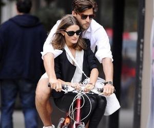 couple, olivia palermo, and bike image