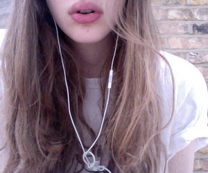 pale, lips, and music image