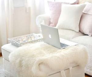 bedroom, cosy, and white image