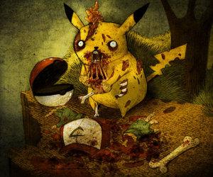 pikachu, pokemon, and zombie image