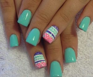 blue, pink, and nials image