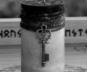candle, black and white, and key image