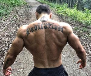 back, fitness, and men image