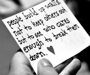 love, quote, and wall image