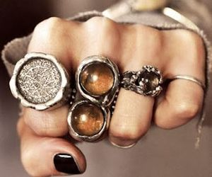 rings, ring, and boho image