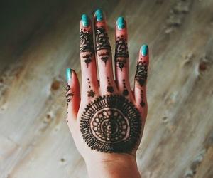 black, tattoo, and hand image
