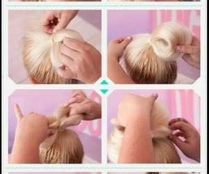 bow, Easy, and hairstyles image