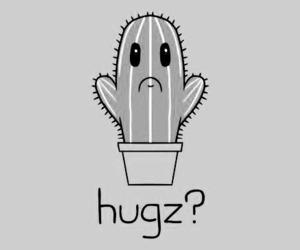 hug, cactus, and sad image