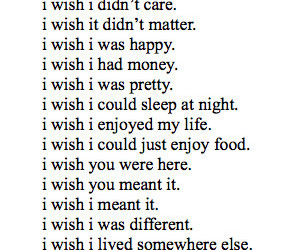 wish, sad, and quotes image