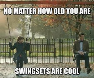 cool, swingsets, and doctor who image