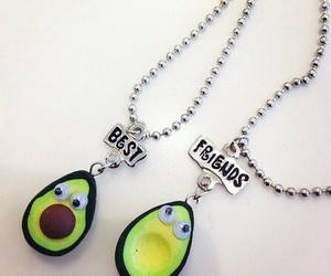 avocado, best friends, and necklaces image