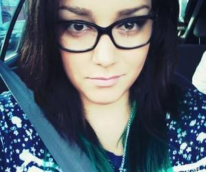 girl, glases, and green hair image