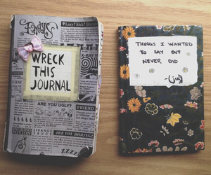 journal, book, and wreck this journal image