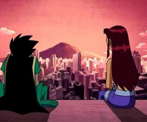 robin, romantic, and teen titans image