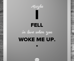 love song, lyric, and wake me up image
