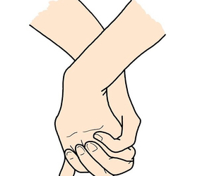 love, hands, and overlay image