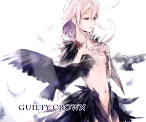 anime, girl, and guilty crown image