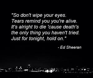 ed, hold on, and Lyrics image