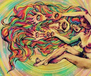 art, psychedelic, and colors image