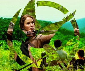 katniss, hunger games, and gale image