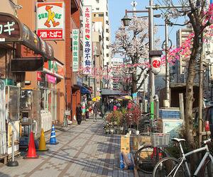 japan, street, and nipón image