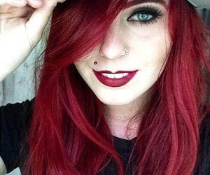 beautiful, girl, and redhair image