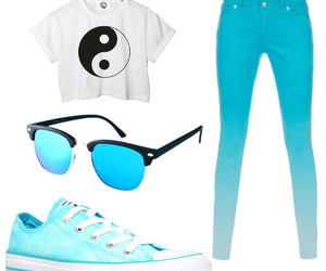 blue, converse, and Polyvore image