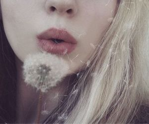 girl, flowers, and lips image