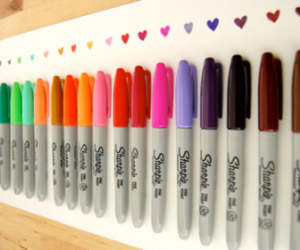 beautiful, colours, and pens image