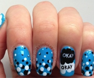 nails, the fault in our stars, and nail art image