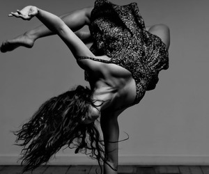 dance and black and white image