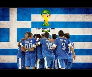Greece, greek, and world cup 2014 image