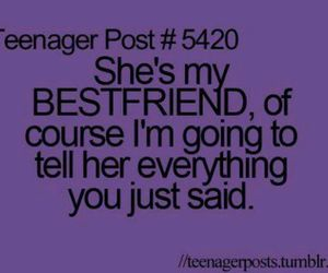 teenager post, quote, and best friends image