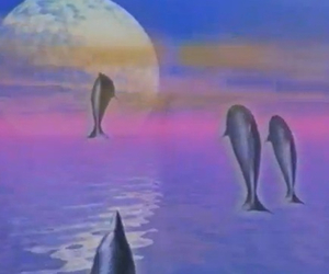 trippy, seapunk, and dolphins image