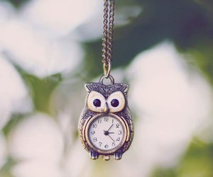 owl, clock, and necklace image