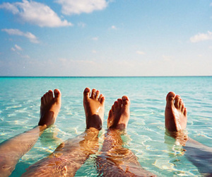 summer, water, and feet image