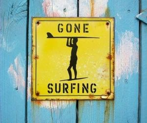 surf, beach, and surfing image