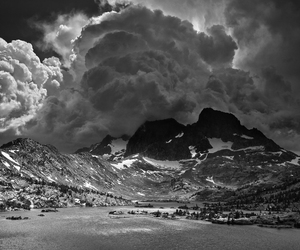 garnet lake and ansel adams thunderclouds image